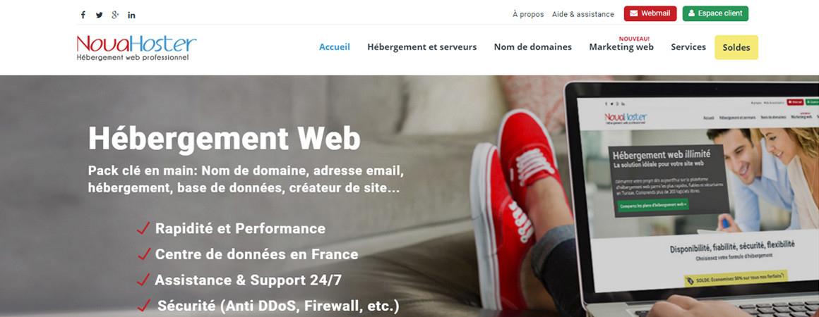 novahoster hébergement web Tunisie