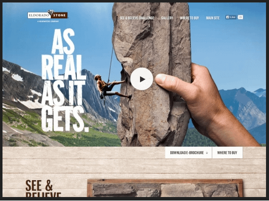 Eldorado Stone : un site web vivant !